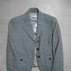 Ann Taylor Loft Plaid Blazer Wool Blend Winter NWT
